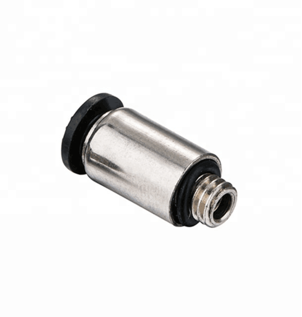 Mini Air Connectors One Touch Push Lock Male Straight Coupling Connect Pu Pipe Pneumatic Fittings