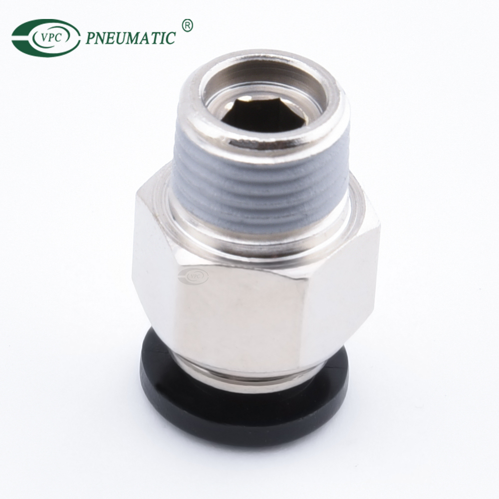 PC 1/4 bsp pneumatic cylinder accessories fittings one touch push in tube air connector
